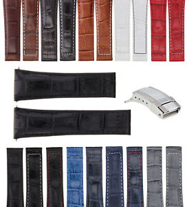 20MM ITALIAN CALF LEATHER BAND STRAP FOR ROLEX DAYTONA WATCH + S/STEEL CLASP