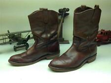VINTAGE BROWN LEATHER RED WING PECOS ENGINEER MOTORCYCLE WORK BOOTS SIZE 9.5 E