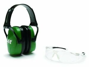 Howard Leight Adult Shooting Combo Earmuffs, Green & Glasses, Clear #R-01761