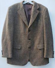 Harris Tweed Jos A Bank Jacket Sport Coat Wool 3 Button Vented 42L Herringbone