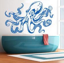 Vinyl Wall Decal Octopus Kraken Tentacles Decor Stickers Wall Art