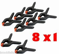 "Good Quality 8Pc  3"" Top Tools Spring Clamp + Free Postage"