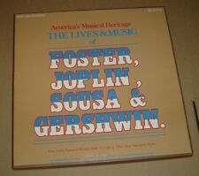 The Lives & Music Of Foster, Joplin, Sousa and Gershwin 4 LP Box Set NM Booklet