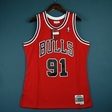 100% Authentic Dennis Rodman Mitchell Ness 97 98 Bulls Swingman Jersey Size L 44