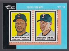 Aramis Ramirez Michael Young Dual Stamp Relic 2011 Topps Heritage 32/62 Cubs