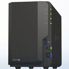 SYNOLOGY NAS ds218+ 2gb di RAM incl. 6tb (2x3tb 24/7 RAID HGST Hus/Hua serie)