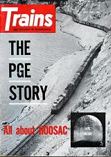 Trains Magazine June 1960 The PGE Story / All about Hoosac
