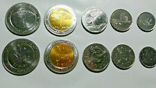 YEMEN REPUBLIC: 5 PIECE UNCIRCULATED VARIETY COIN SET, 1 TO 20 RIAL (1 BIMETAL)