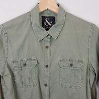 ST&ARD | Womens Relaxed Khaki Shirt / Top [ Size XS or AU 8 / US 4  ]