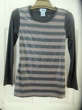 Uproar Girls Sz L 14/16 Gray Striped Sequin Top with Tie Back