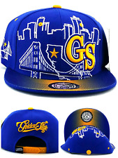 Golden State New GS Skyline 3 Bridge Warriors Blue Gold Era Snapback Hat Cap