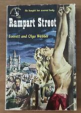 RAMPART STREET  EVERETT AND OLGA WEBBER  POCKET 681  1950 CLASSIC BONDAGE COVER