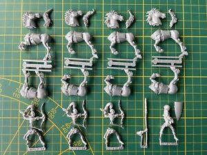 Warhammer Wood Elves Waldelfen 4 Glade Riders Waldreiter Metal Rare Used OOP