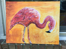 """Painting-FLAMINGO- NEW 16""""x20"""""""