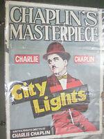 CHARLIE CHAPLIN CITY LIGHTS comedy RARE POSTER INDIA NFDC release original