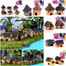 1X Mini Fairy Garden Miniature Resin House Home Micro Landscape Ornament Decor