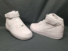 Nike Men's Air Force 1 '07 Mid Sneakers White White Size 10.5 Display Model!
