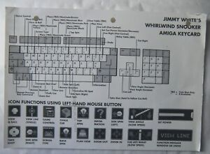 59944 Instruction Keycard - Jimmy White's Whirlwind Snooker - Commodore Ami