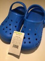 Crocs Baya Ocean Blue Unisex Child Size J2 J 2 Slip On Clogs Sandals New