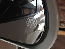 4 x vw logo aile côté miroir autocollants stickers gravée golf Mk1 MK2 MK3 MK4 MK5 MK6