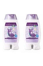 Avon Naturals Kids Goodnight Lavender Body Wash & Bubble Bath 2x 250ml Bottles