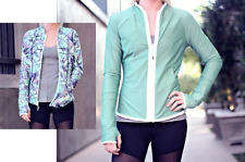 NWT Lululemon FIND YOUR BLISS JACKET size 6 REVERSIBLE Green Iridescent Sea Mist