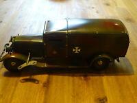 Marklin 1101 Military Truck Nato Camouflage with Clockwork Wind up  1:16 Steel
