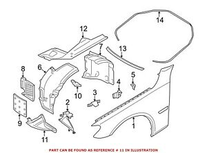 For BMW Genuine Fender Liner Extension Front Right 51757185006