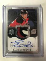 2013-14 Upper Deck The Cup Damien Brunner Rookie Auto 3 Color Patch /249