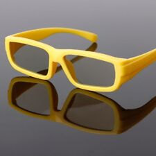 Kids Circular Polarized Passive 3D Glasses Yellow For Real D 3D TV Cinema Movie