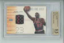 MICHAEL JORDAN PATCH 2000-01 2001 ULTIMATE COLLECTION GAME JERSEY SILVER BGS 9.5