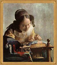 Die Spitzenklöpplerin Vermeer Handarbeit Klöppeln Liebe Detail LW H A2 0287