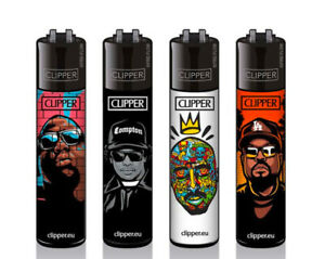 CLIPPER Refillable Lighters HIP HOP RAPPERS - BIGGIE / EAZY E / 2PAC / ICE CUBE