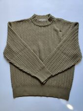 New listing Braun Womens vintage 100% Wool Cable knit Long Sleeve Brown Sweater West Germany