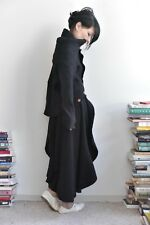 Comme Des Garcons AW 2002 Black Wool Knit 2D Circle Skirt M