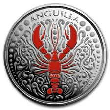 2018 Eastern Caribbean 8 Series Anguilla Lobster 1 oz Silver Colorized Proof