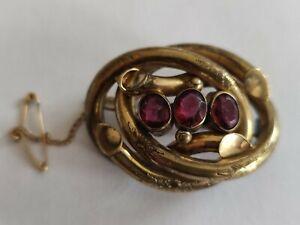 Antique Victorian Pinchbeck brooch
