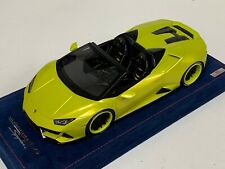 1/18 MR Collection Lamborghini Huracan Evo Spyder Yellow Tenerife Forgiato Wheel