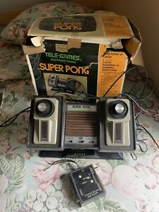 Vintage Sears Tele-Games Atari Super Pong  With 2 Controllers