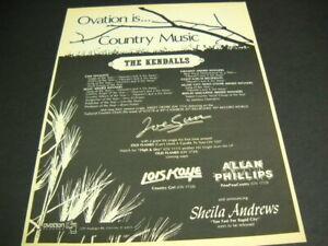KENDALLS Joe Sun LOIS KAYE Allan Phillips SHEILA ANDREWS 1978 Promo Poster Ad