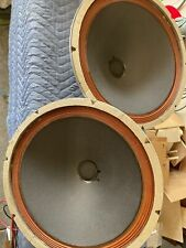 """Amazing!! vintage 15"""" speakers woofers from stereo console"""