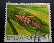 Singapore stamps - Cricket (Homoeoxipha Lycoides) - $1 1985