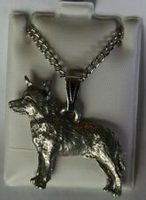 Australian Cattle Dog Dog Harris Fine Pewter Pendant w Chain Necklace Usa Made