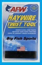 AFW HAYWIRE TWIST TOOL Twist Your Own Wire! FREE USA SHIP! AMERICAN FISHING WIRE