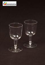 30 - CLEAR PLASTIC WINE GLASSES - 175ml