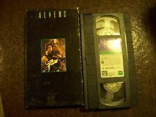Aliens VHS 1986 CBS Fox Video Sigourney Weaver Rated R Sequel to ALIEN