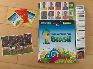ALBUM PANINI WORLD CUP 2014 - HARD COVER EDITION - MEXICO - COMPLETE SET + UPDAT