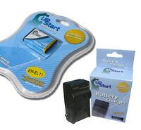 Battery + Charger for Pentax Optio W80 Optio M50 D LI78 Nikon MH 64