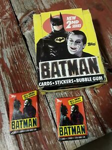 1989 Topps Batman movie series 9 cards per pack 23 sealed packs box