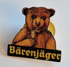 BARENJAGER Honey Liqueur OKTOBERFEST Bear Lapel Pin Button Alcohol Souvenir